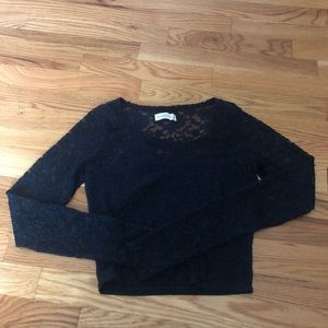 Abercrombie size S lovely lace  crop top
